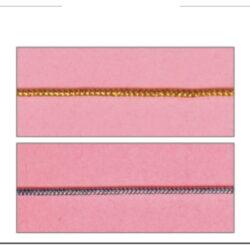 Cordón elástico metalizado