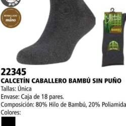 "Calcetin caballero bambu ""sin puño"""