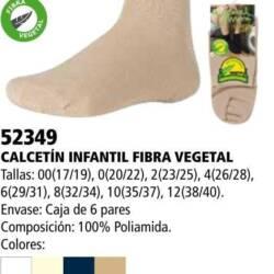 Calcetín infantil fibra vegeral